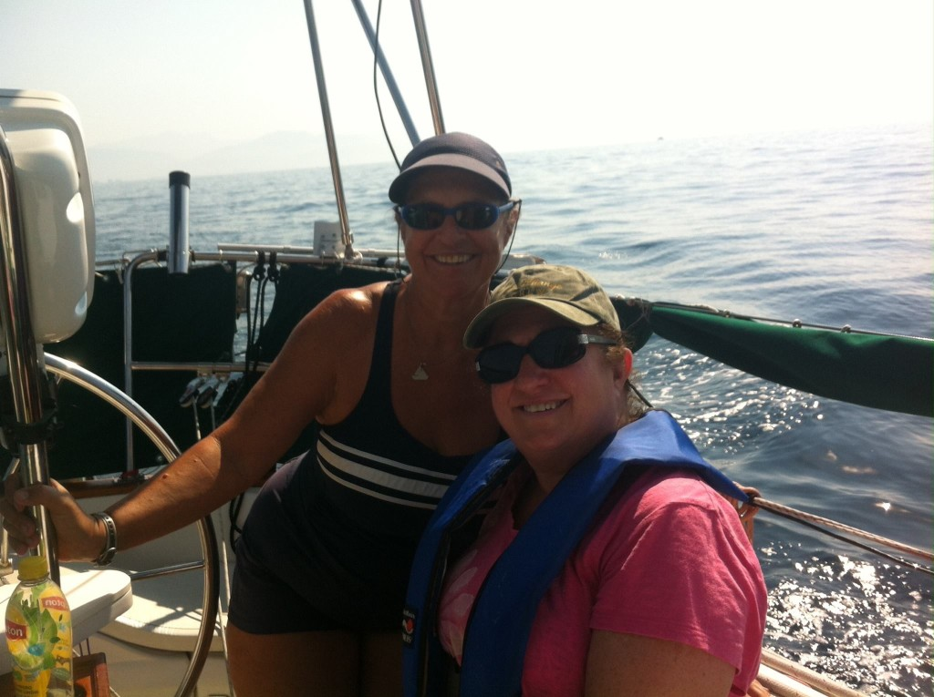 Kim and I sailing