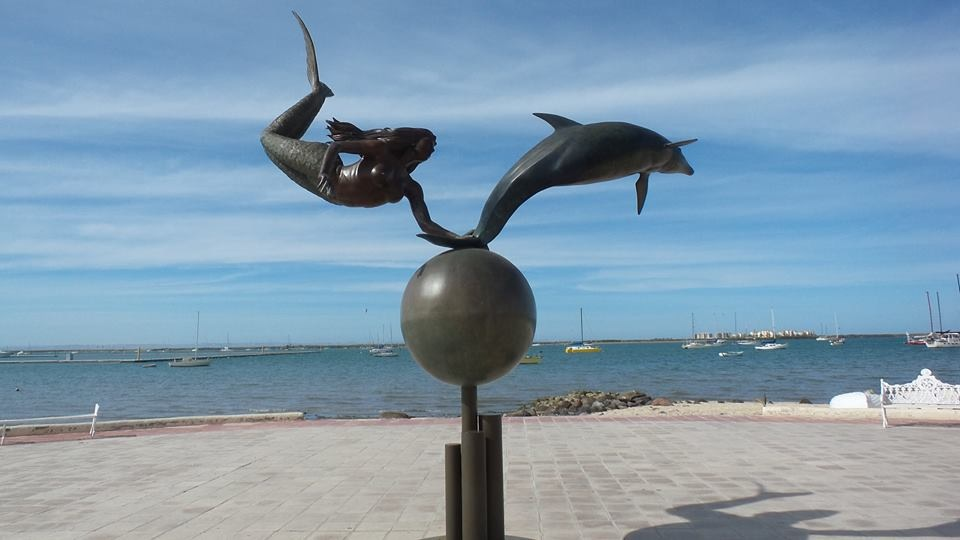 While walking the Malecon in Puerto Vallarta, we passed many beautiful sculptures.  The artist who designed this sculpture also sells small jewelry made by hand. One such piece we bought for our daughter Sarah, inscribed by the artist, for her birthday