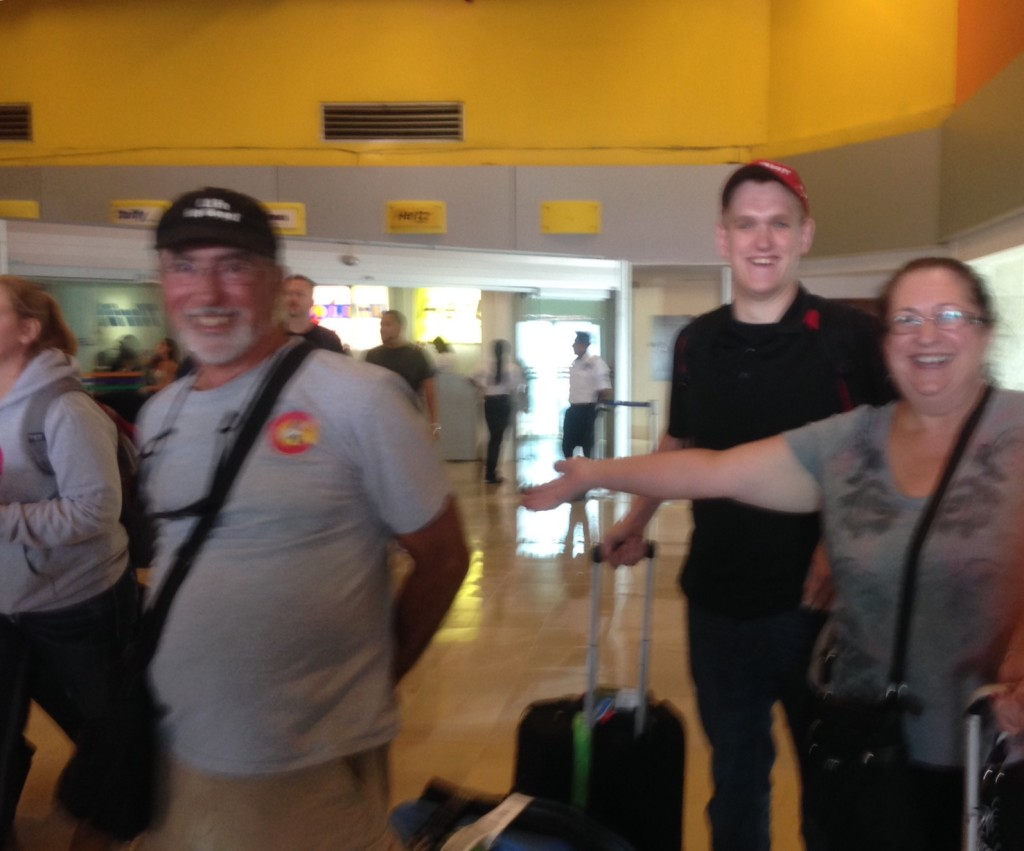 Kim and Bob arriving at the Puerto Vallarta airport.