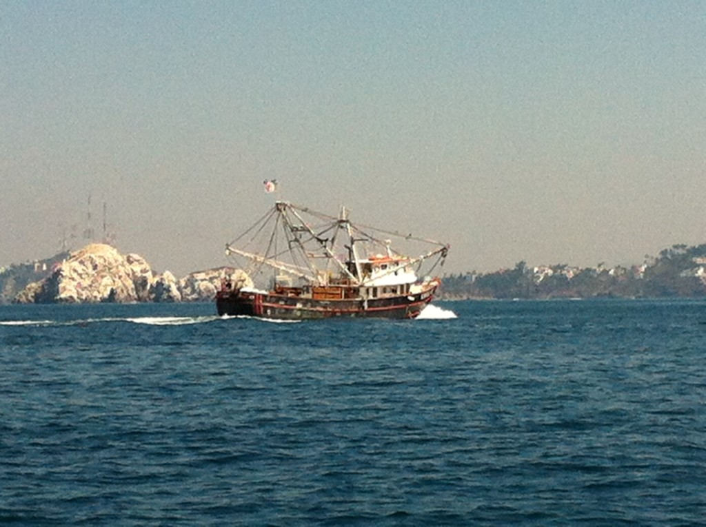 As we approached Mazatlan, Rick grabbed this awesome shot of a shrimp boat.  Mazatlan is the shrimp boat capital of Mexico