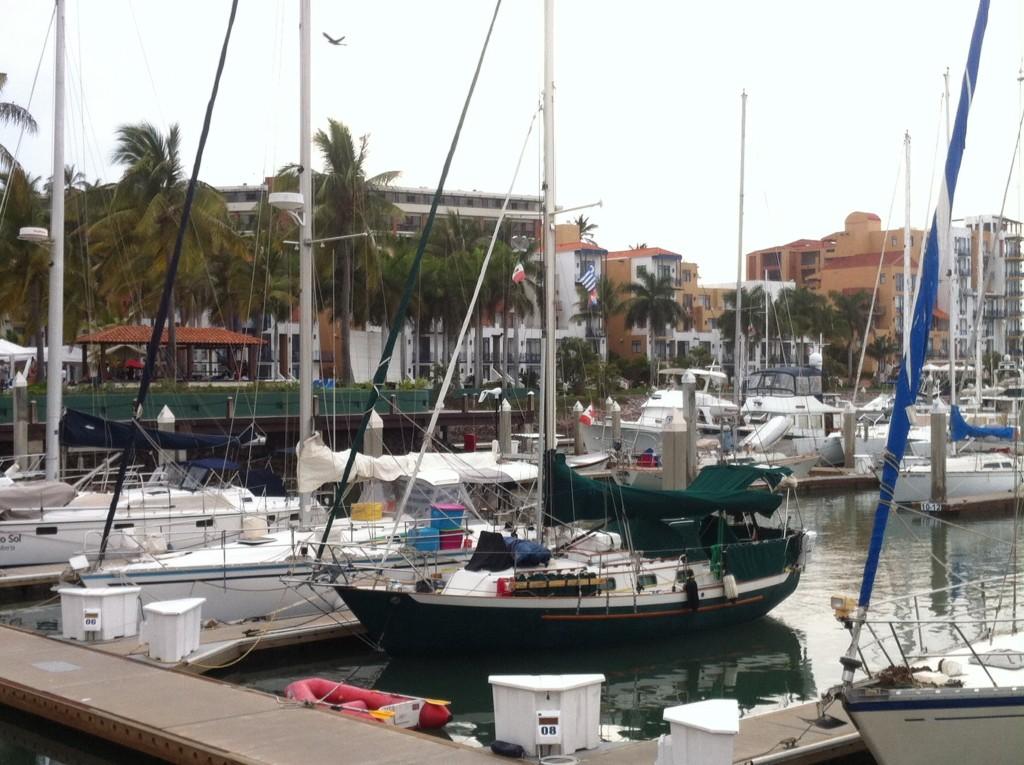 Cool Change in her slip at El Cid Marina in Mazatlan