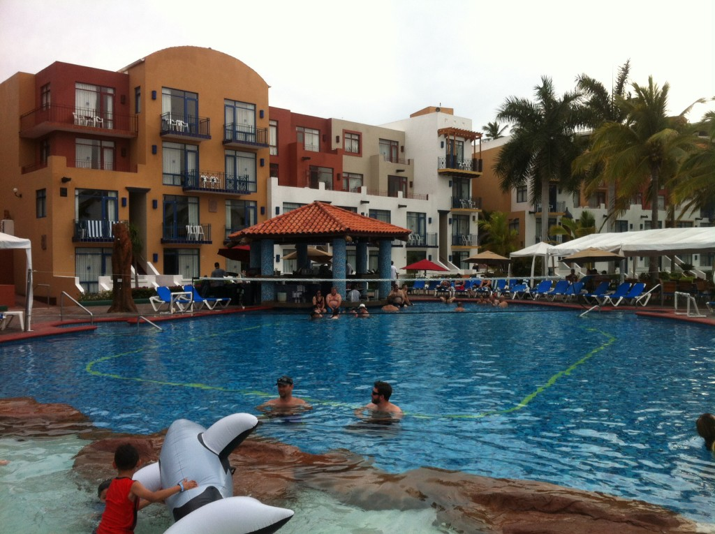 One of the two pools at El CID.  This one was almost as warm as bath water.