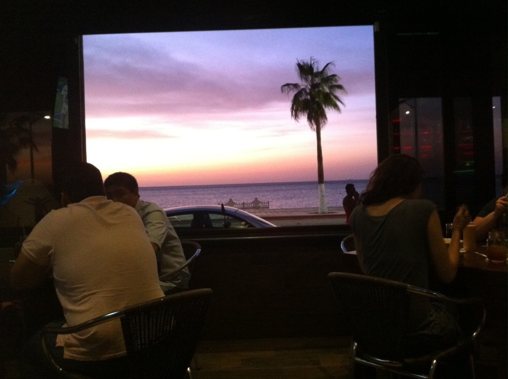 View from the sushi restaurant in La Paz