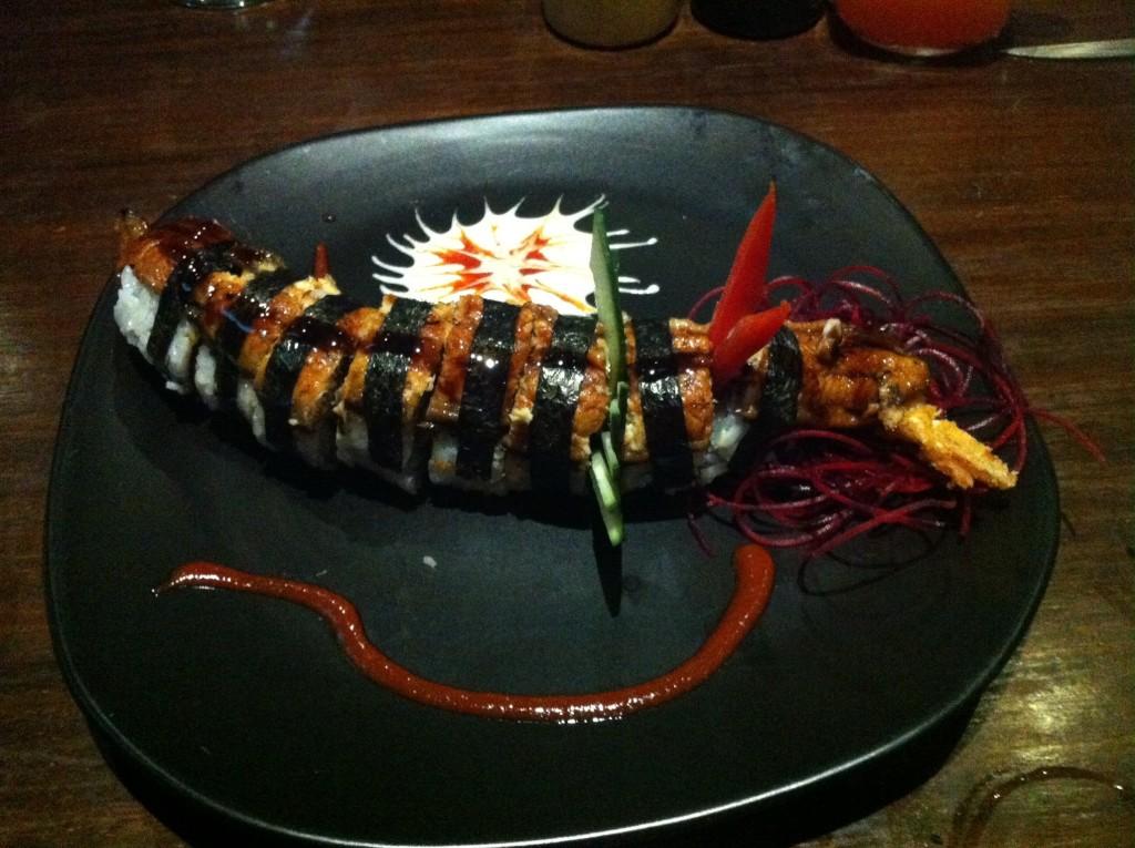 Wonderful Dragon Roll on a last night in La Paz
