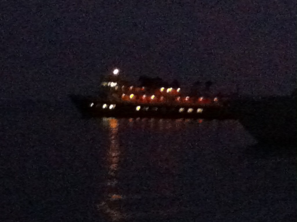 National Geographic Seabird Cruise Ship at night