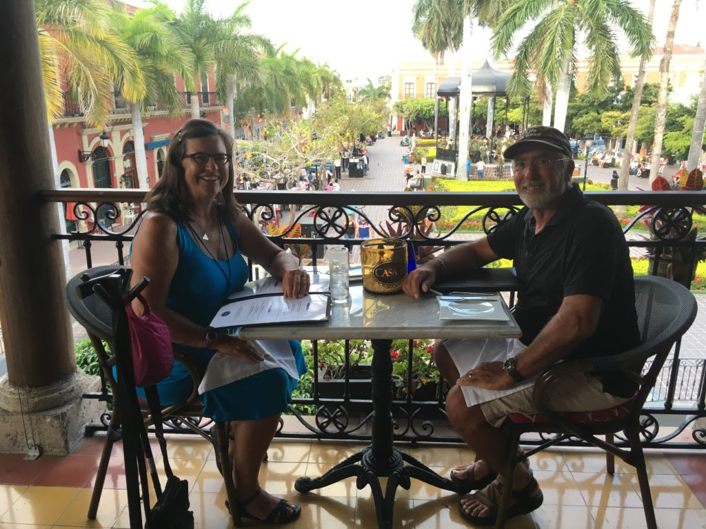 Our 15th wedding anniversary fell in May 26 so we started it at a lovely balcony restaurant above Plazuela Machada in the historic district of Mazatlan