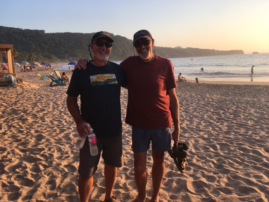 Rick and Bob on Chacala beach