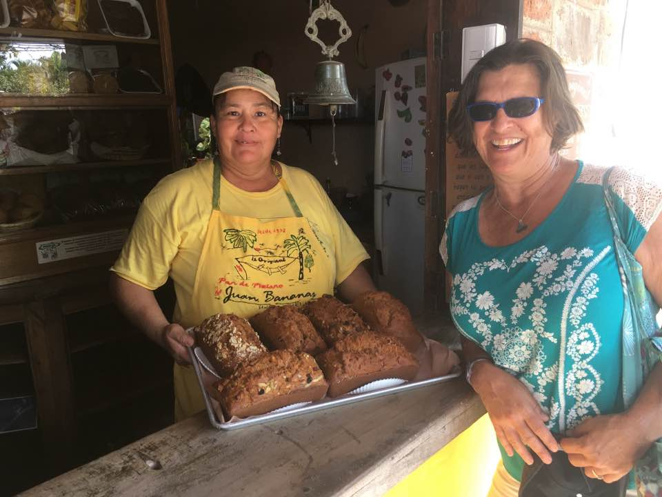 Juan Banana's banana bread store, one of the goodies that San Blas is known for