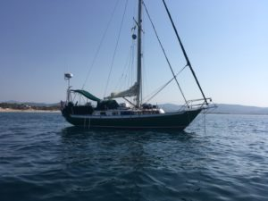 Cool Change at anchor in Chamela Bay